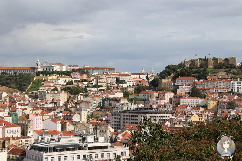 Aussicht vom Miradouro São Pedro de Alcântara in Lissabon