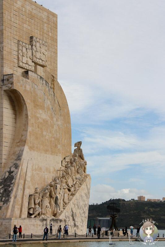 Das Denkmal der Entdeckungen in Belém in Lissabon