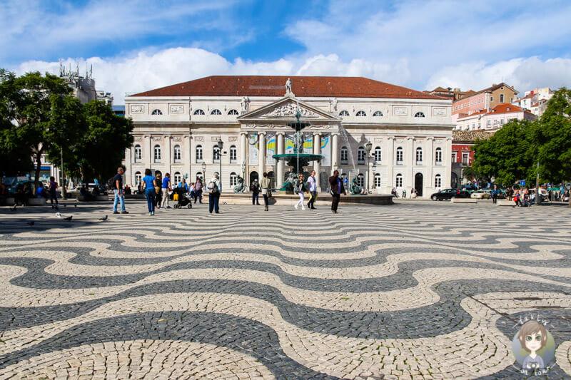 Der Plaça Rossio in Lissabon