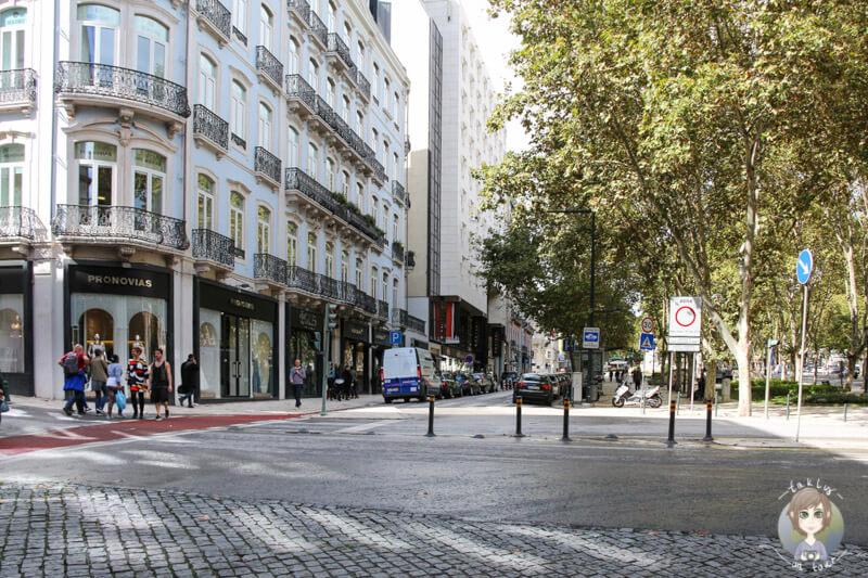 Die Prachtstraße Avenida da Liberdade in Lissabon