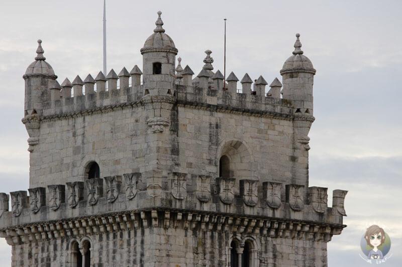 Die Turmspitze des Torre de Belém, Lisbon