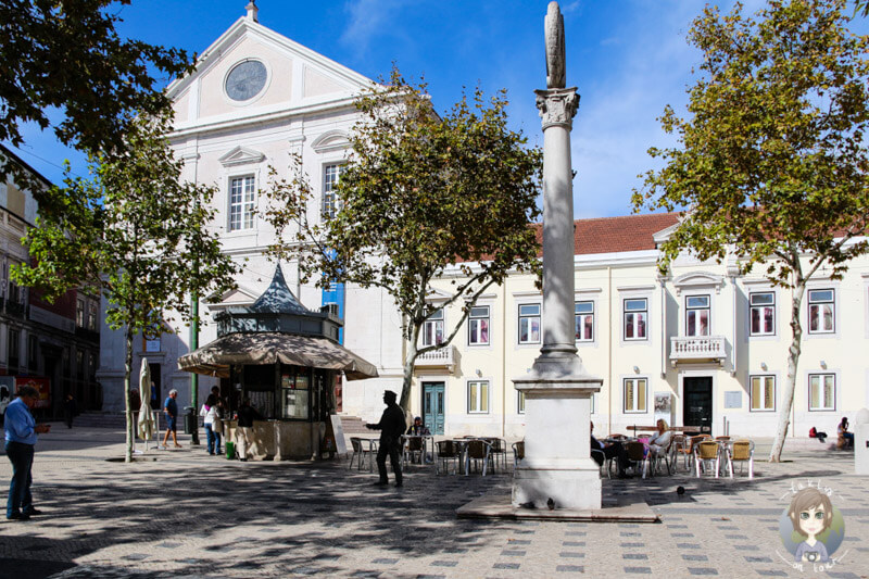 Ein schöner, schattiger Platz im Bairro Alto, Lissabon