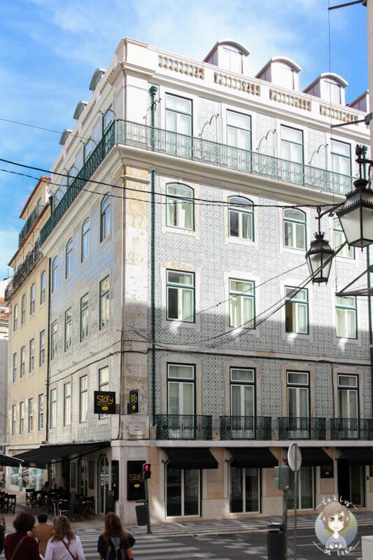 Immer wieder sieht man schöne Häuser in Lissabon