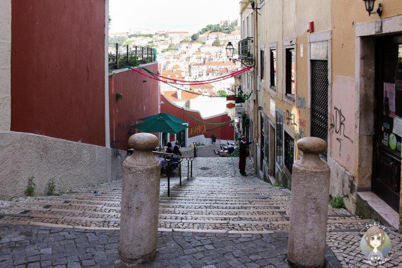 Auf unserem Spaziergang durch die Gassen des Bairro Alto in Lissabon