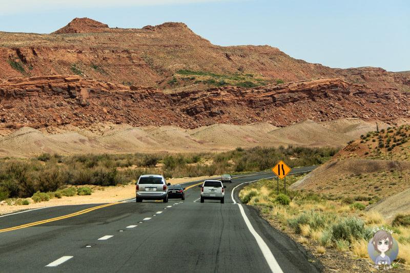 Fahrt durch die Canyons in Arizona, USA