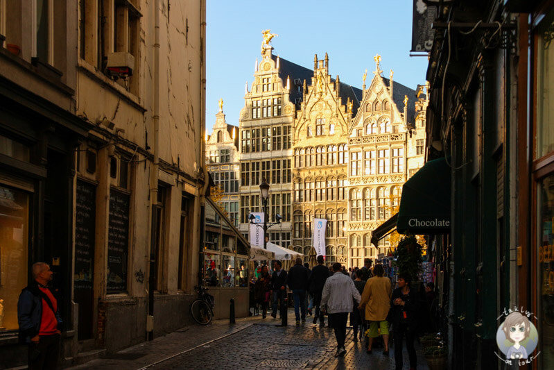 Auf dem Weg zum Grote Markt von Antwerpen