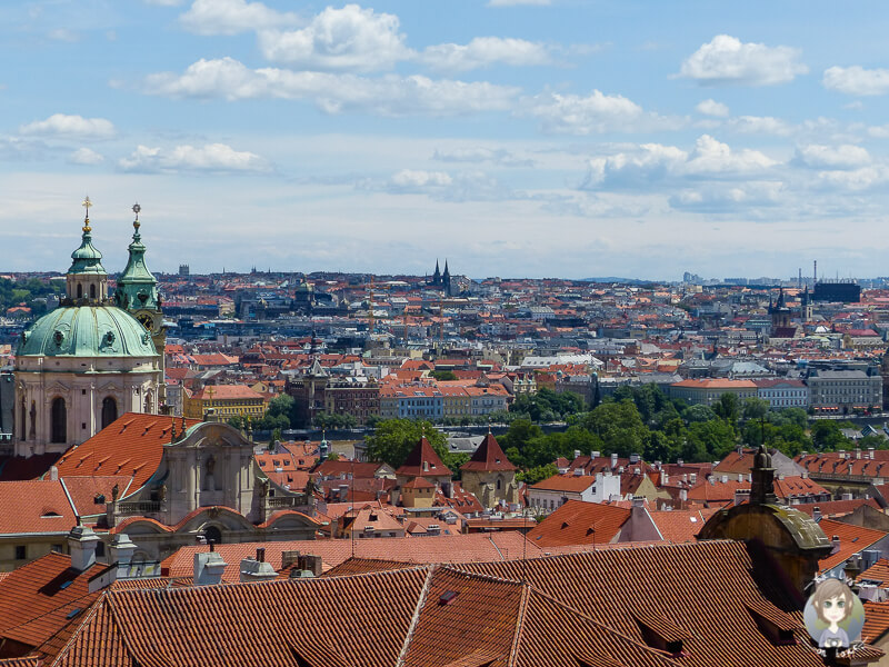 Blick auf die Innenstadt vom Burgberg in Prag toller Aussichtspunkt