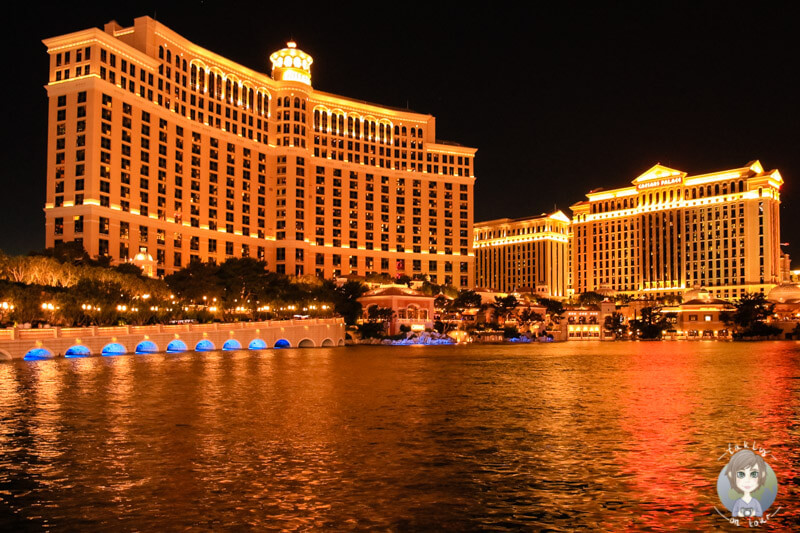Bellagio Las Vegas am Abend