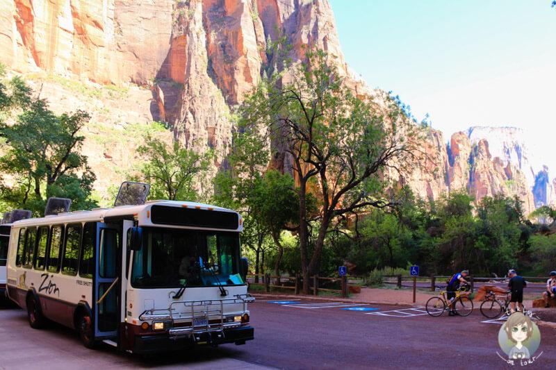 Shuttle Bus im Zion Nationalpark
