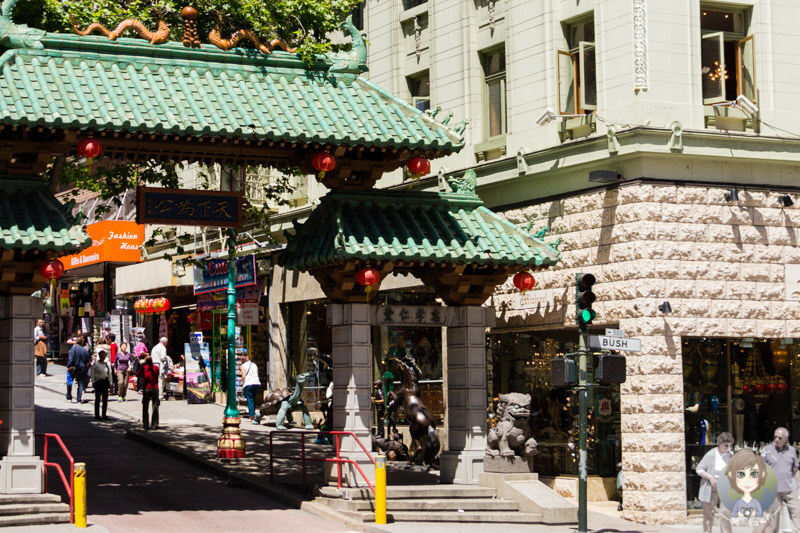 Der Eingang zum China Town in San Francisco