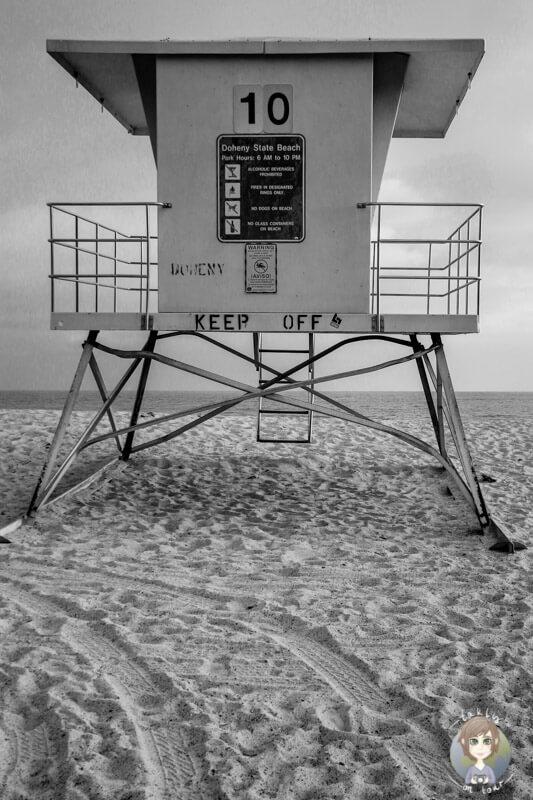 Rettungsturm am Doheny Beach, CA