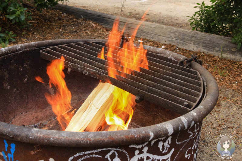 Feuerstelle auf dem Campingplatz
