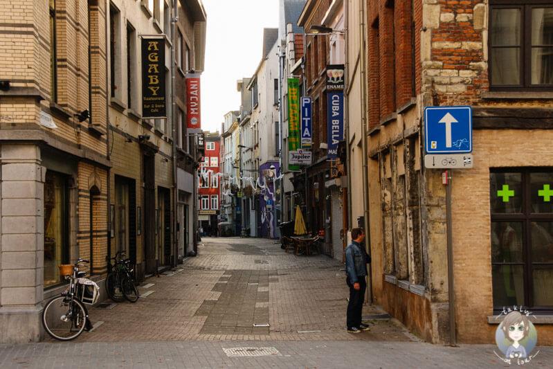 Schöne Gassen in Antwerpen