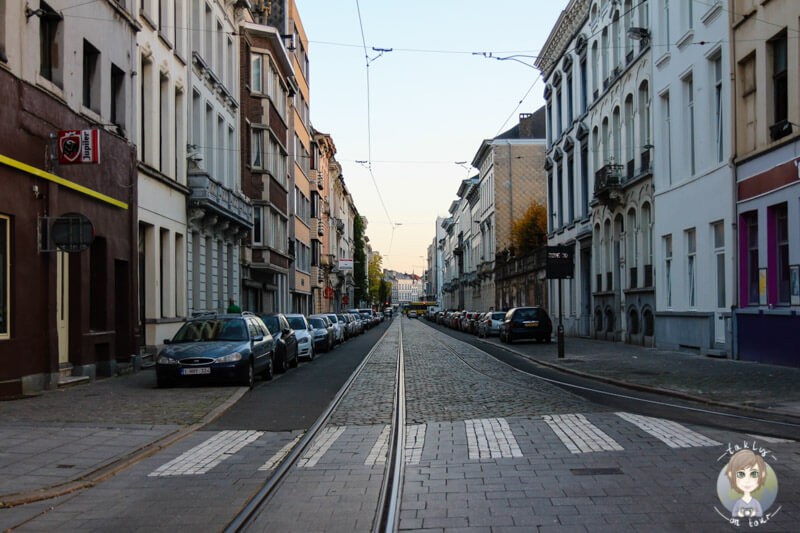 Ausgestorbene Straßen in Antwerpen