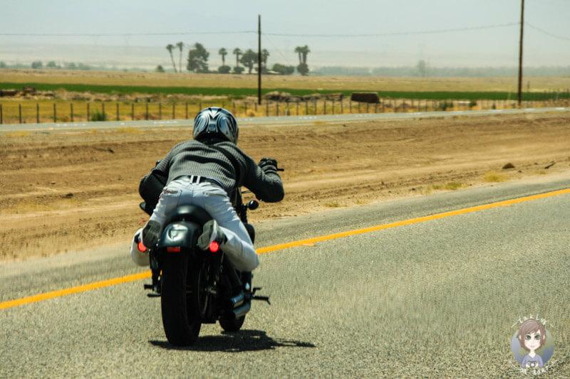 Motorrad in El Centro