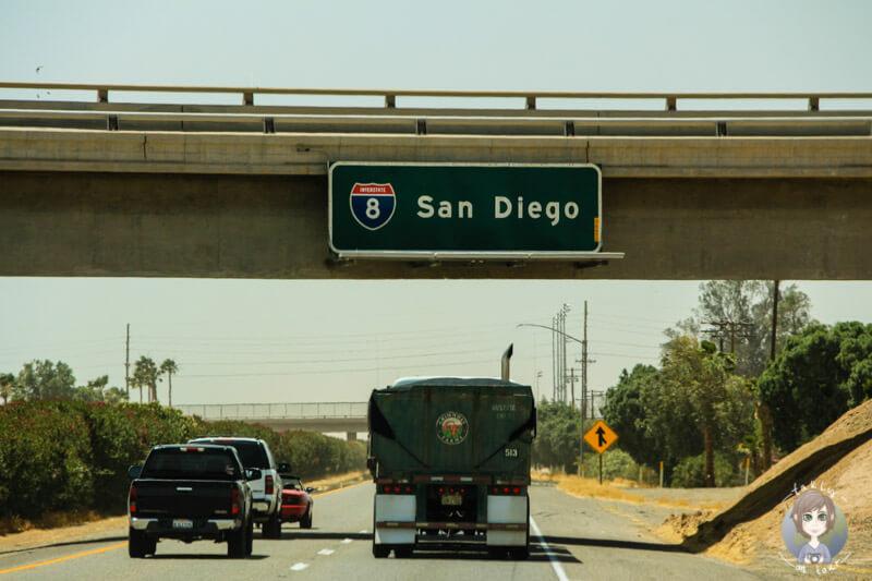 Strecke nach San Diego