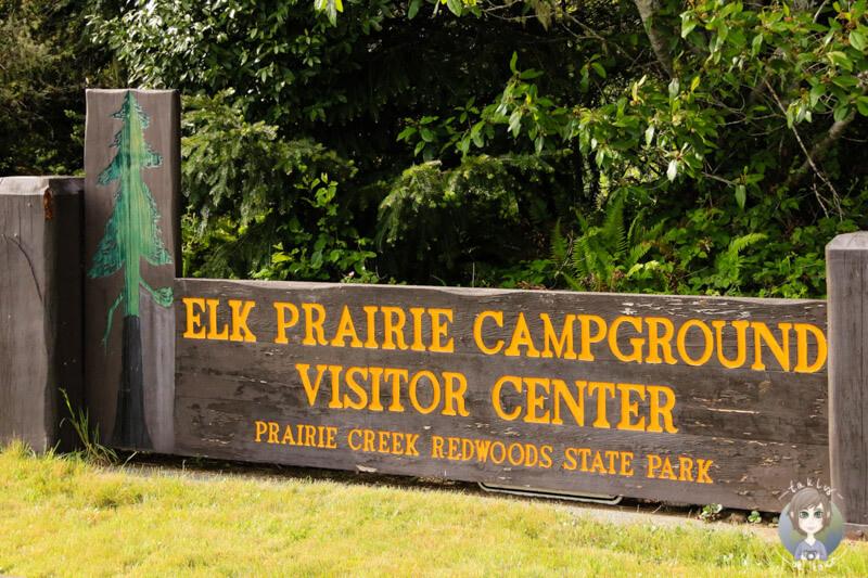 Eingangsschild Elk Prairie Campground