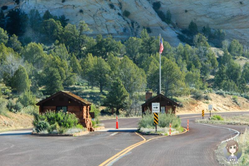 Eingang vom Zion Nationalpark