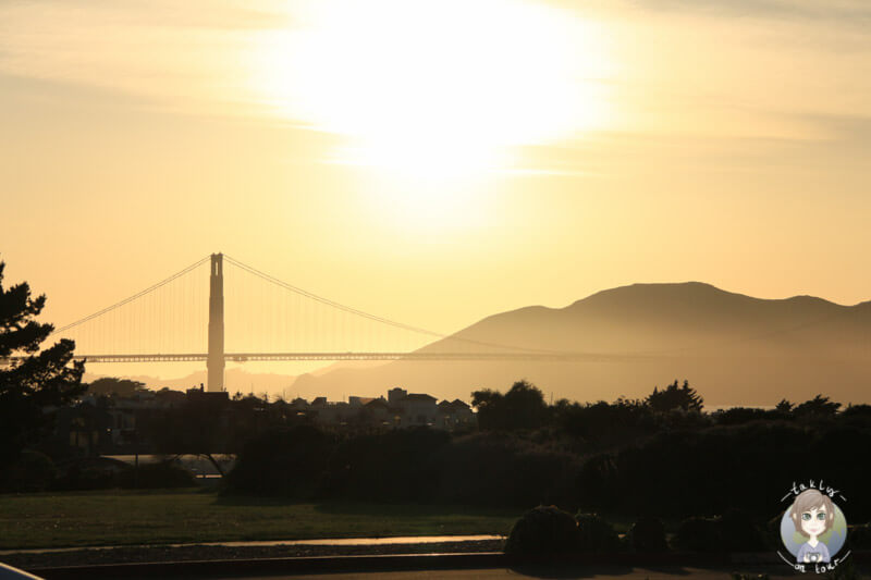Die Goldengate Bridge in der Abendsonne