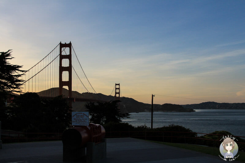 Die Golden gate Bridge in San Francisco in der Abendsonne