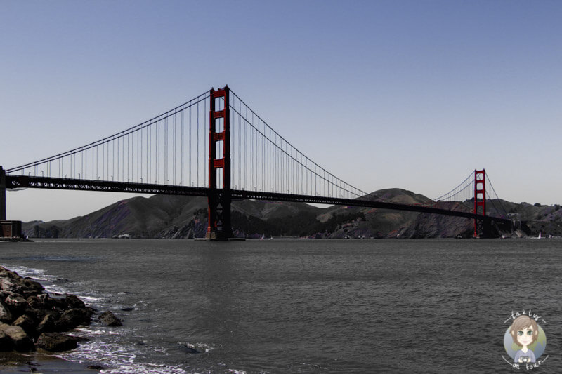 Das Wahrzeichen von San Francisco, die Golden Gate Bridge