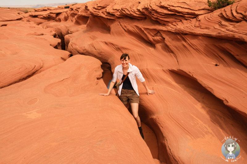 Ende des Antelope Canyons