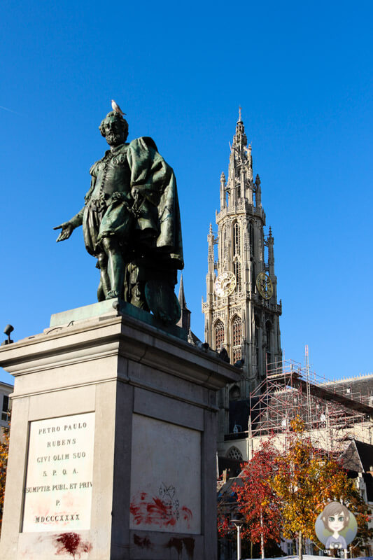 Das Rubens Denkmal auf dem Groenplaats