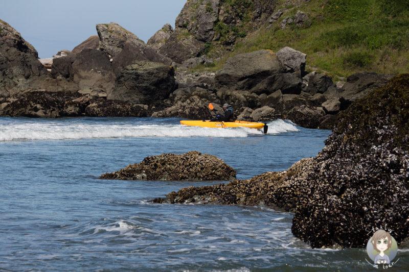 Kayak Fahrer in Oregon