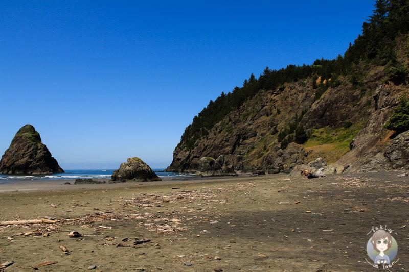 Menschenleerer Strand in Oregon