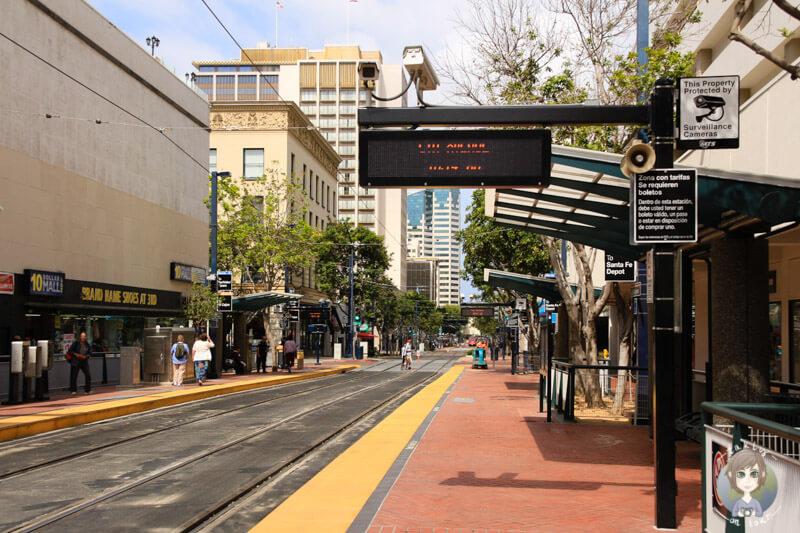 Bahnstation in San Diego
