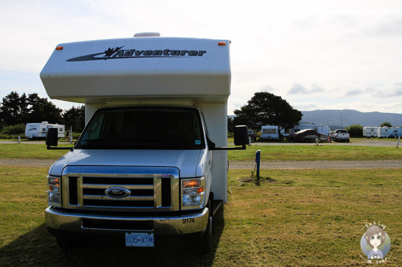 Stellplatz auf dem Shoreline RV Park in Crescent City