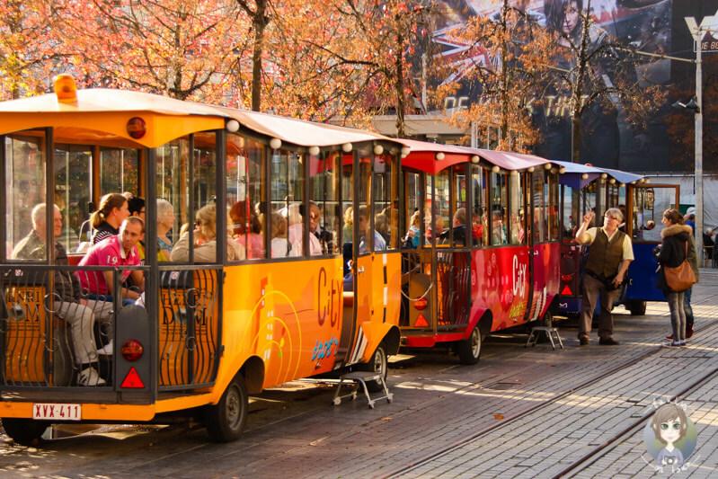 Sightseeing in Antwerpen mit einer Bimmelbahn