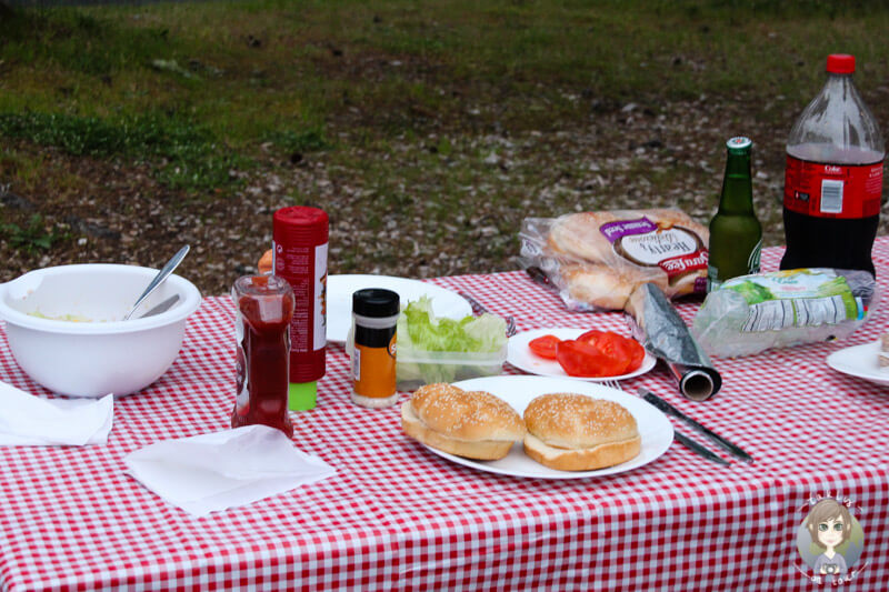 Abendessen auf dem South Beach Campground