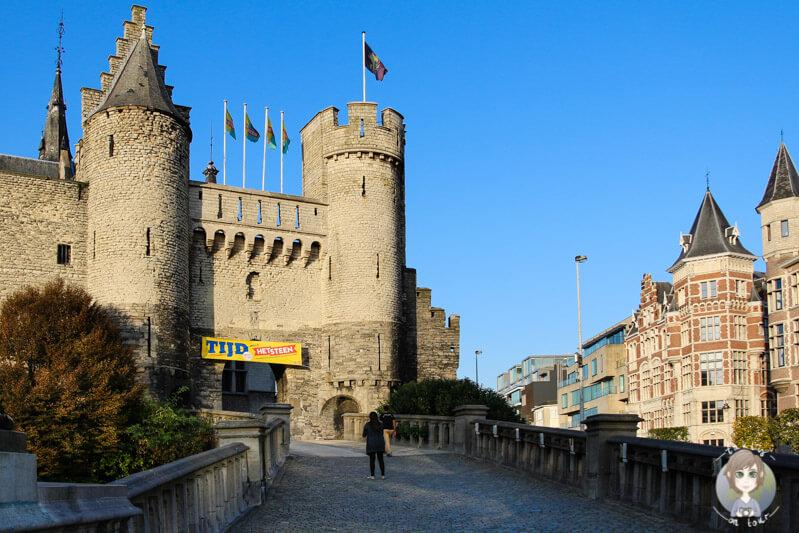 Rückseite der Stadtburg Het Steen, Antwerpen