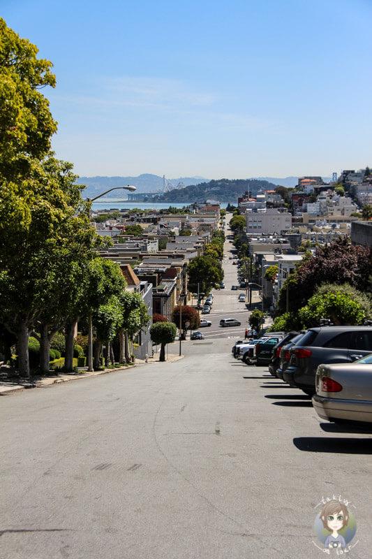 Steile Straße in San Francisco