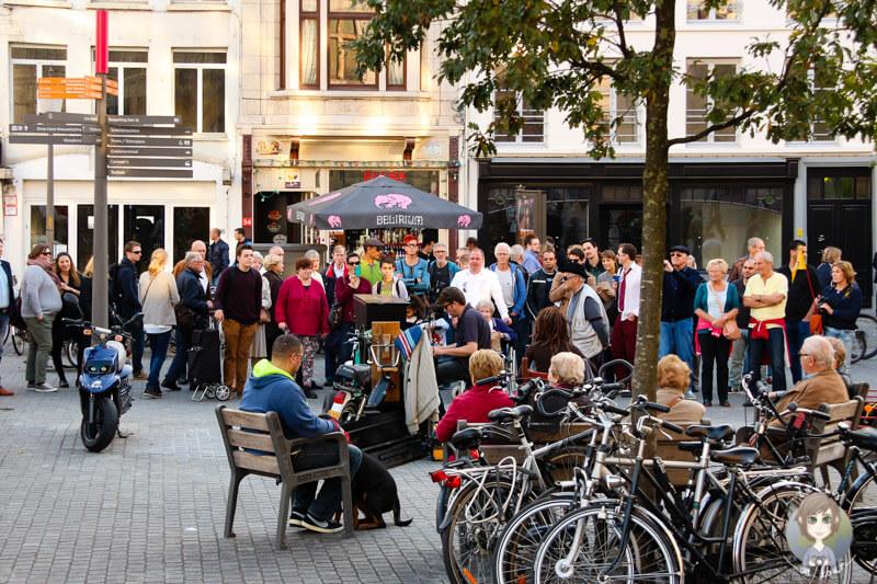 Straßenmusiker in Antwerpen