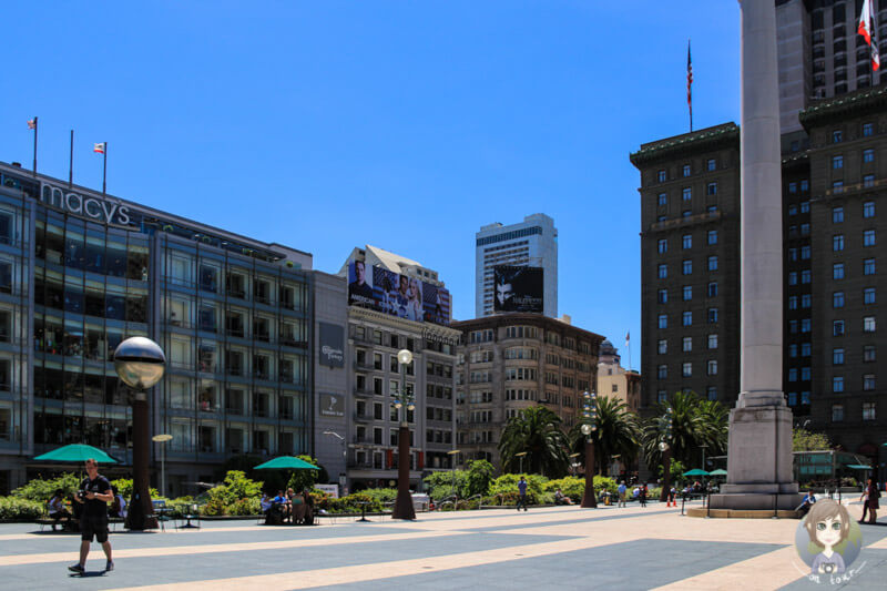 Besuch des Union Square in San Francisco