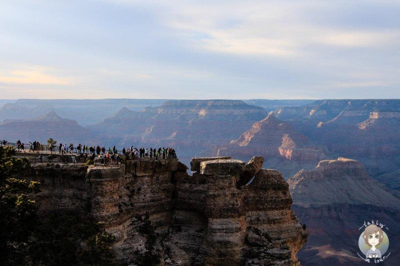 Sonnenuntergang am Mather Point am Grand Canyon