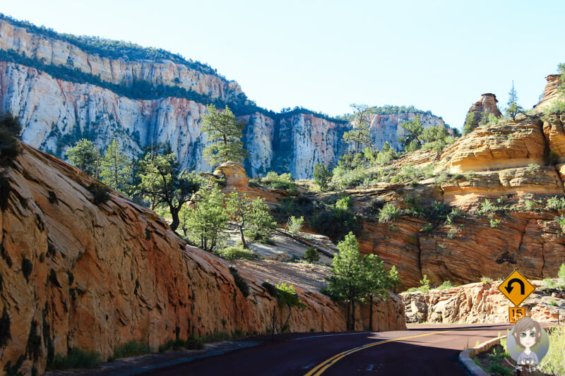 Fahrt durch den Zion, Utah