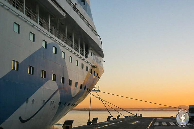 Sonnenuntergang auf der AIDA Mittelmeer Tour