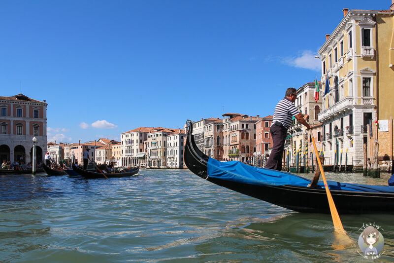 Unsere Gondelfahrt durch Venedig