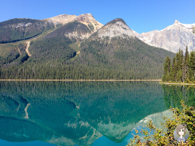 Der Emerald Lake in British Columbia, Kanada