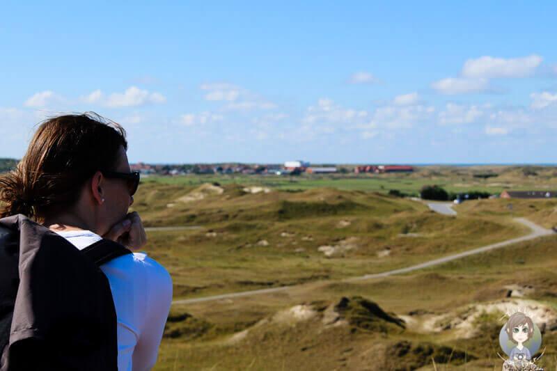 Ein weiter Blick über die Insel Norderney Gedanken an eine Auszeit und langzeitreise