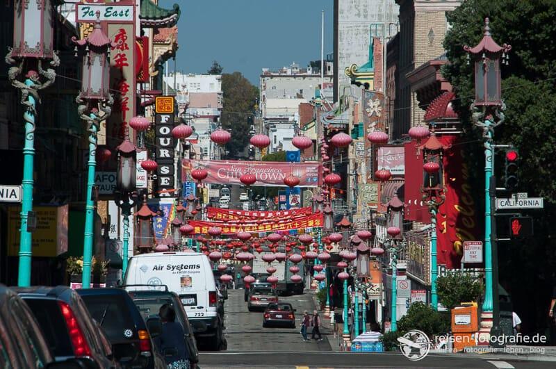 Einen Chinatown von San Francisco an der Westkueste der USA
