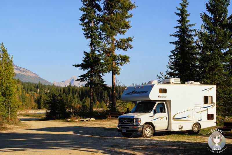 Waitabit Creek Forest Campground, kostenloser Campingplatz in Kanada