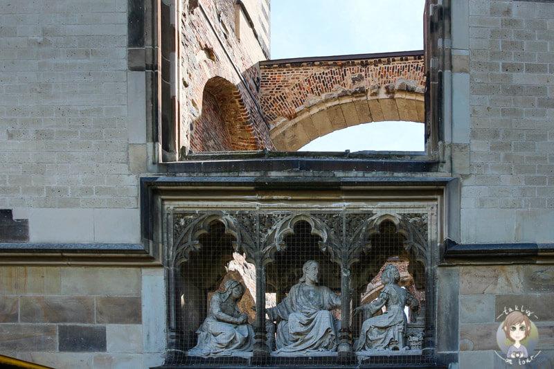 Alt St. Alban, die Kirchenruine auf einer Stadtrundfahrt in Koeln