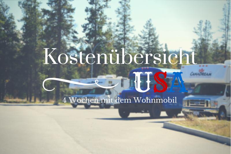 Die Reisekostenaufstellung unserer Rundreise USA Westkueste