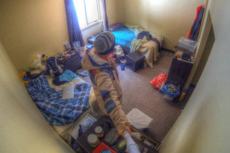 Zimmer im Sunshine Village fuer den Winter in Kanada