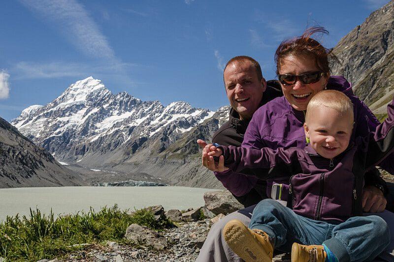 Die Traumteiler waehrend der Elternzeit in Neuseeland und Australien mit ihrem Sohn
