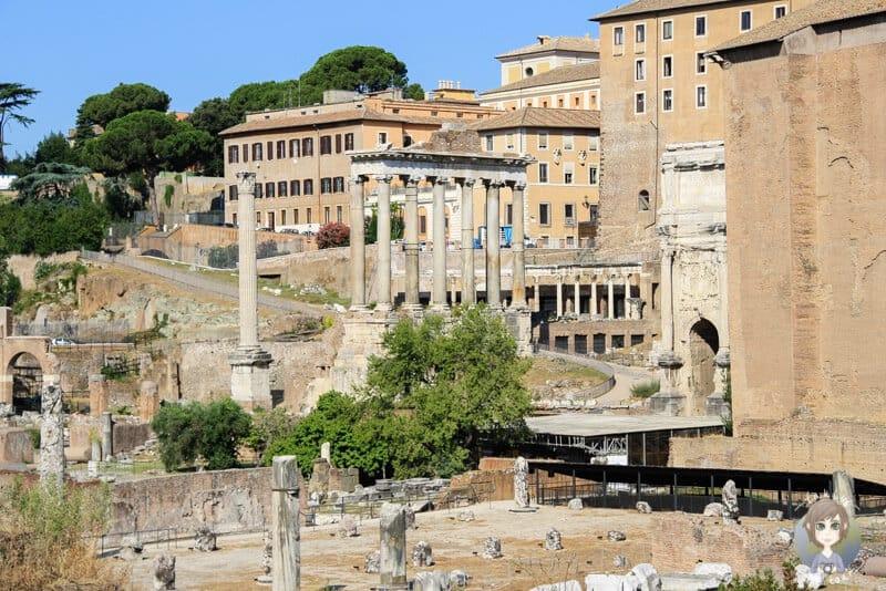 Blick auf das Forum Romanum eines der Rom Sehenswürdigkeiten